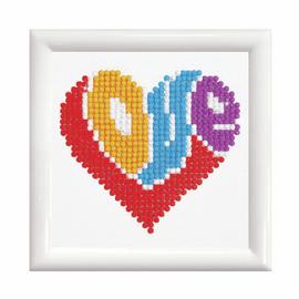 Love with Frame Diamond Painting kit by Diamond Dotz