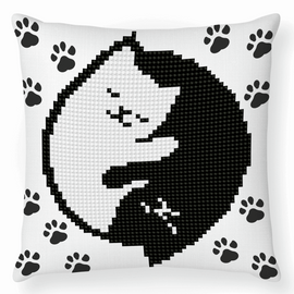 Kitty Glow Diamond Painting  Cushion Kit by Diamond Dotz