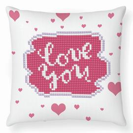 Love You Diamond Painting Cushion Kit by Diamond Dotz