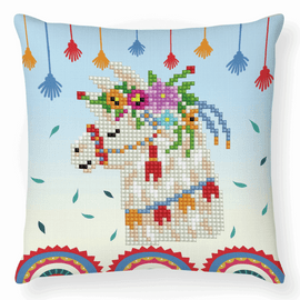 Llama Party Diamond Painting Cushion Kit by Diamond Dotz
