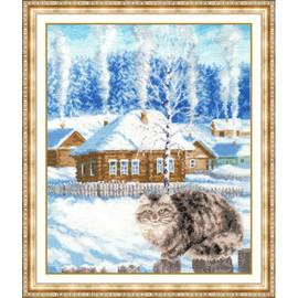 Wintertime Cross Stitch Kit By Golden Fleece