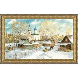 Country Winter Cross Stitch Kit By Golden Fleece