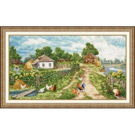 Village Cross Stitch Kit By Golden Fleece