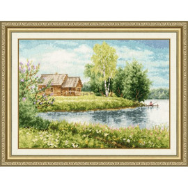 House Near The Lake Cross Stitch Kit By Golden Fleece