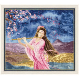 Girl With A Flute Cross Stitch Kit By Golden Fleece
