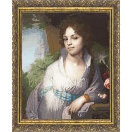 Portrait Of M.I. Lopukhina Cross Stitch Kit By Golden Fleece