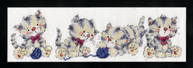 Kitty Row Counted Cross Stitch Kit By Design Works