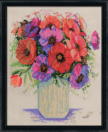 Anemones Counted Cross Stitch Kit By Design Works