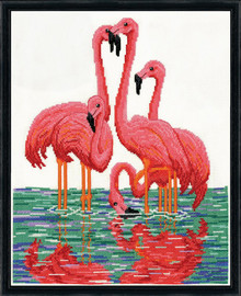 Flamingos Counted Cross Stitch Kit By Design Works