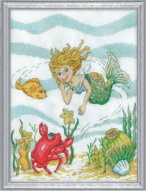 Mermaid Counted Cross Stitch Kit By Design Works
