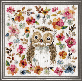 Owl Counted Cross Stitch Kit By Design Works