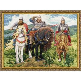 Three Bogatyrs Cross Stitch Kit By Golden Fleece