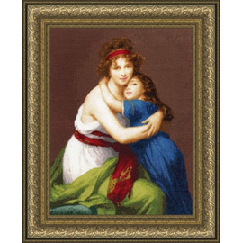 Self Portrait With Her Daughter Cross Stitch Kit By Golden Fleece