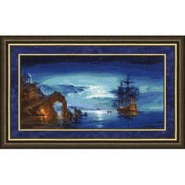 In The Moonlight Cross Stitch Kit By Golden Fleece