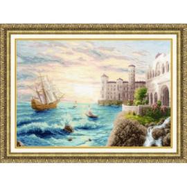 Sea Shore Cross Stitch Kit By Golden Fleece