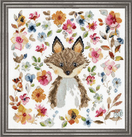 Fox Counted Cross Stitch Kit By Design Works