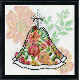 Corset Dress Counted Cross Stitch Kit By Design Works