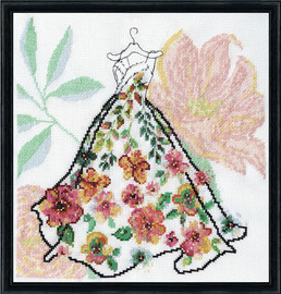 Ball Gown Counted Cross Stitch Kit By Design Works