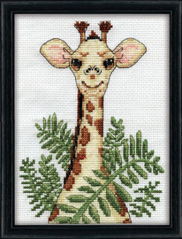 Giraffe Counted Cross Stitch Kit By Design Works