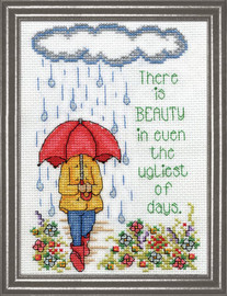 Raindrops Counted Cross Stitch Kit By Design Works