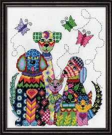 Patchwork Dogs Counted Cross Stitch Kit By Design Works