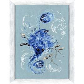 Blue Bird Cross Stitch Kit By Golden Fleece