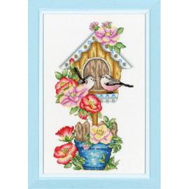 Birdhouse Cross Stitch Kit By Golden Fleece