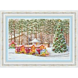 New Year Express Cross Stitch Kit By Golden Fleece