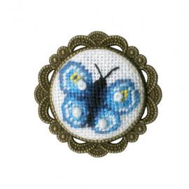 Butterfly Brooch Cross Stitch Kit By Golden Fleece