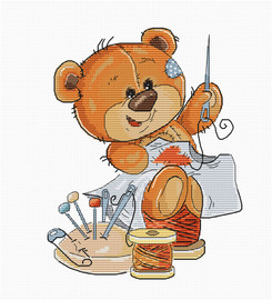 Teddy Bear Stitching Counted Cross Stitch Kit by Lucas s