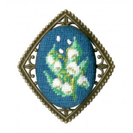 Lily Of The Valley Broach Cross Stitch Kit By Golden Fleece