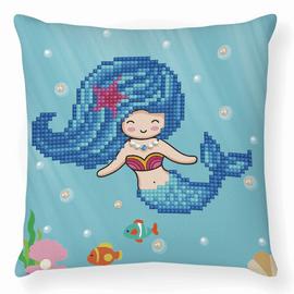 Cushion Pearl Swimmer Diamond Painting Kit By Diamond Dotz