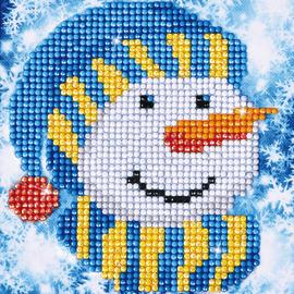 Snowman Cap Diamond Painting Kit By Diamond Dotz