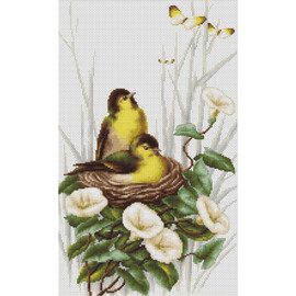 Birds in the Nest Counted Cross Stitch Kit by Luca S