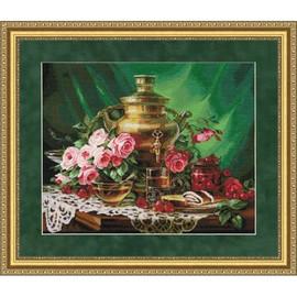 Tea With Honey Cross Stitch Kit By Golden Fleece