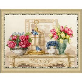 Spring Charm Cross Stitch Kit By Golden Fleece