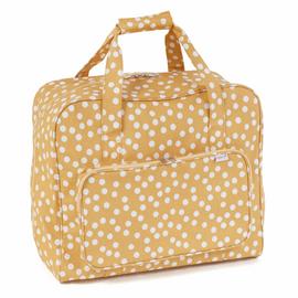 Ochre Spot Matt PVC Sewing Machine Bag by Hobby Gift