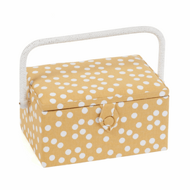 Ochre Spot Sewing Box (M) by Hobby Gift