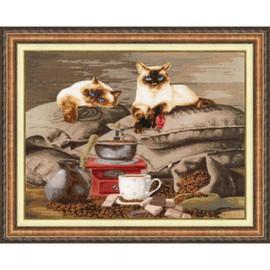 Coffee Keepers Cross Stitch Kit By Golden Fleece