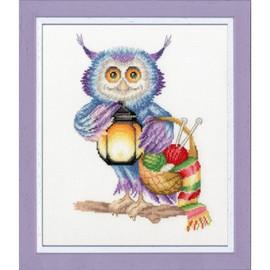 Night Time Knitter Cross Stitch Kit By Golden Fleece