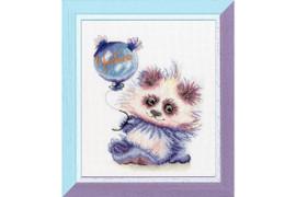 Panda With A Ball Cross Stitch Kit By Golden Fleece