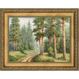Pine Forest Cross Stitch Kit By Golden Fleece