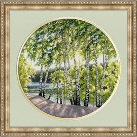 Birches By The River Cross Stitch Kit By Golden Fleece