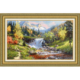 Mountain Stream Cross Stitch Kit By Golden Fleece