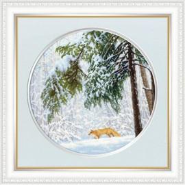 Winter Forest Cross Stitch Kit By Golden Fleece