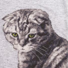 Cat Marquise Cross Stitch Kit By Golden Fleece