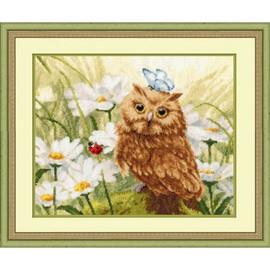 Owlet In Chamomiles Cross Stitch Kit By Golden Fleece