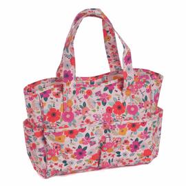 Floral Garden Pink Matt PVC Craft Bag By Hobby Gift