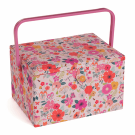 Floral Garden Pink Large Sewing Box By Hobby Gift