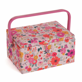 Floral Garden Pink Medium Sewing Box By Hobby Gift